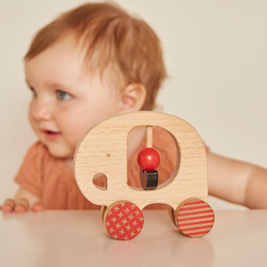 Wooden Push Along Little Elephant