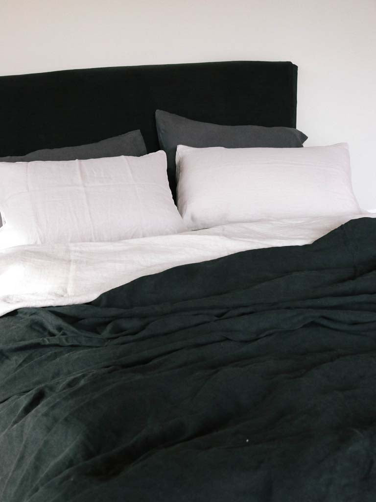 Luxury Linen | Showing Fog, Lead & Kohl