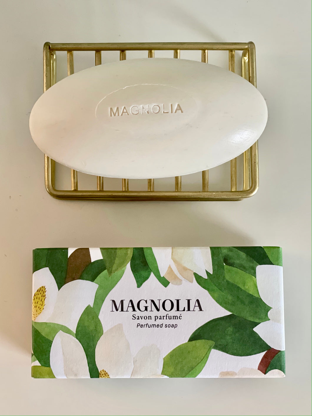 Magnolia soap pebble soap
