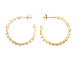 Frill Hoops Gold Earrings