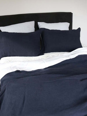Luxury Linen | Showing Ink & Dusk Blue