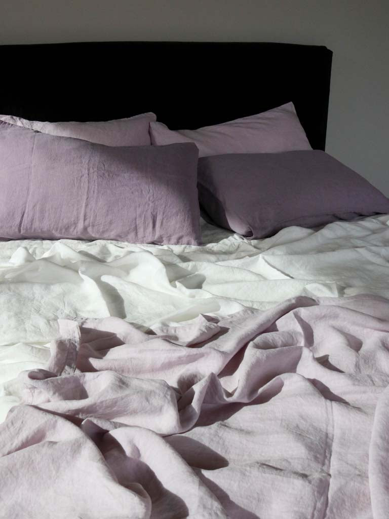 Luxury Linen | Showing Lilac, Wysteria & Sea Storm