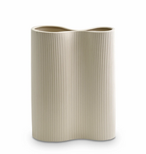 Load image into Gallery viewer, Ribbed infinity Vase | Medium | Cream
