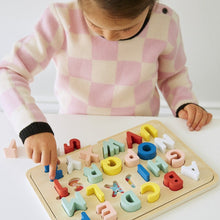 Load image into Gallery viewer, Multi - Language Alphabet Wooden Tray Puzzle