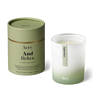 Aery Essential oil soy wax candle range