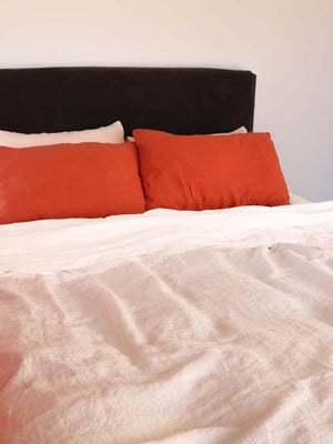 Luxury Linen | Showing Russet, Fog & Dew