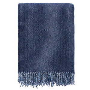 Shimmer Blue Wool Throw