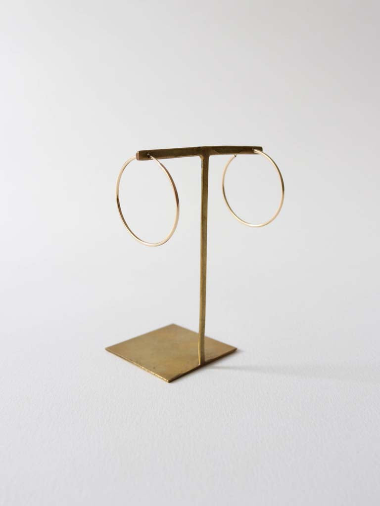 Hoop Earrings 40mm in Gold