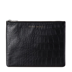 Antiheroine Clutch | Black Croc