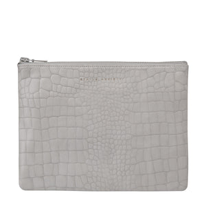 Antiheroine Clutch | Grey Croc