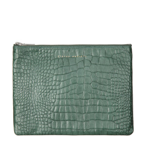Antiheroine Clutch | Teal Croc