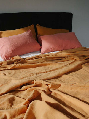 Luxury Linen | Showing Toffee & Guava