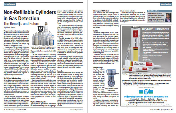 The Benefits and Future of Non-Refillable Cylinders in Gas Detection