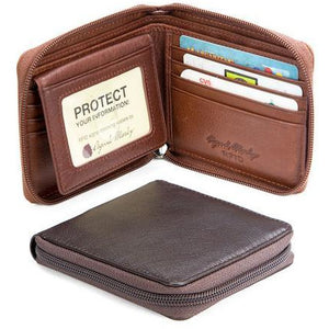 RFID Zipper Passcase Wallet - Index Urban