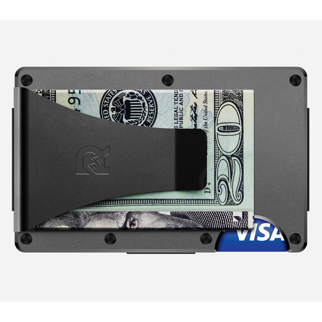 The Ridge | Aluminum Wallet + Money Clip | Gunmetal - Index Urban