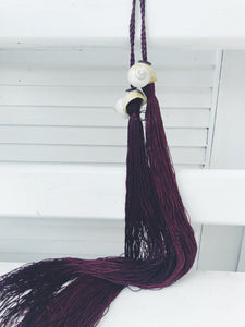 Burgandy Curtain Shell Tie back