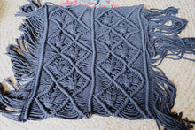 Load image into Gallery viewer, Macrame Cushion - Zigzag Bespoke Cushion Covers Black