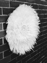 Load image into Gallery viewer, WHITE FEATHER JUJU  WITH CRISP WHITE SHELL DETAILING WALL HANGING