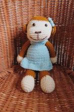 Load image into Gallery viewer, Milla Blue Monkey Crochet Doll