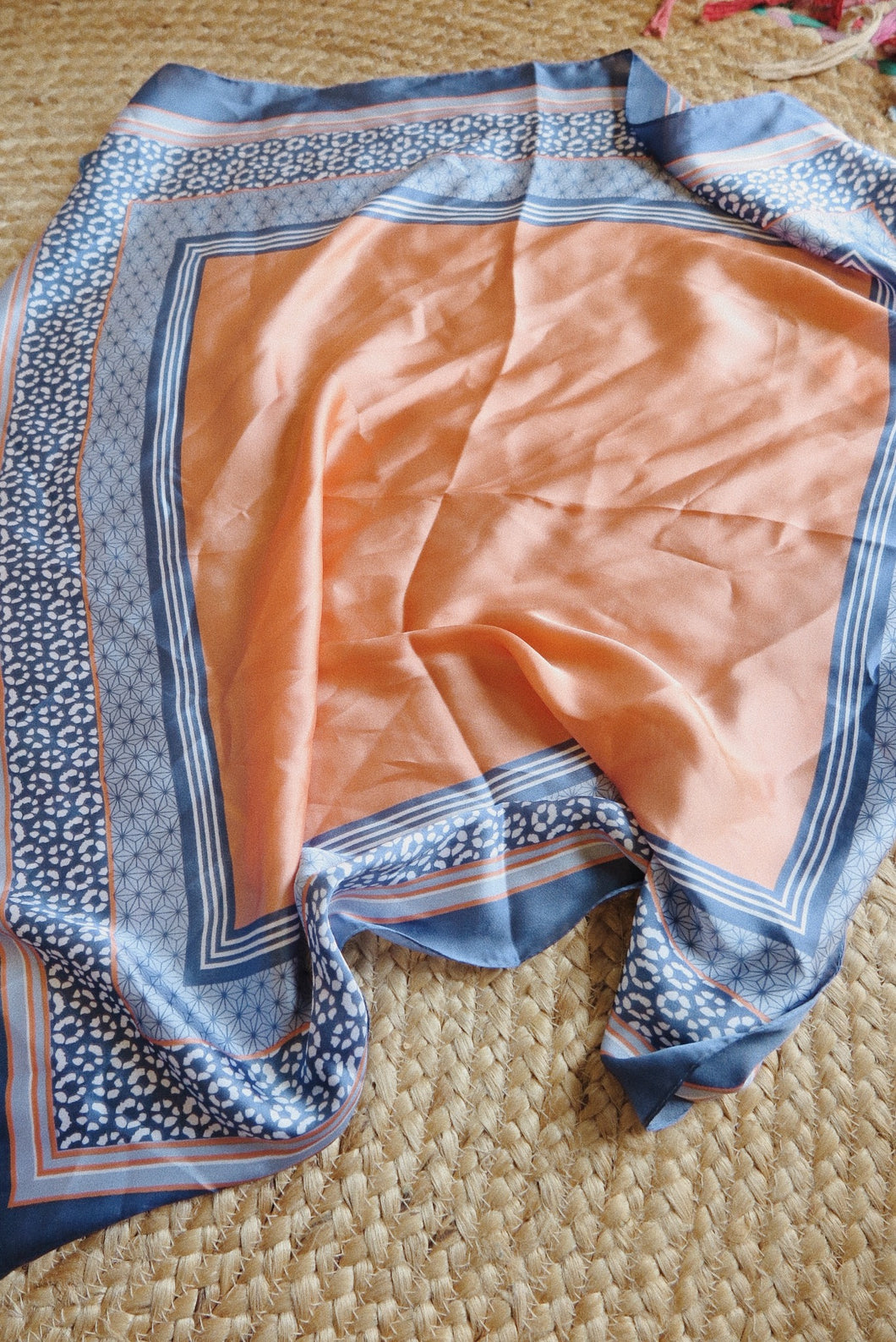 The Silky Scarf - Peach + Celeste