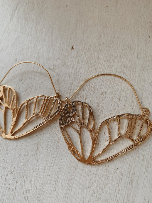 BUTTERFLY EFFECT GOLD INTRICATE Earrings | By: Life in the sun store