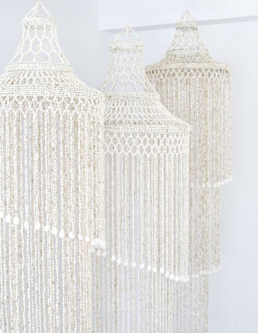 Triple Tier Wave shell Chandelier