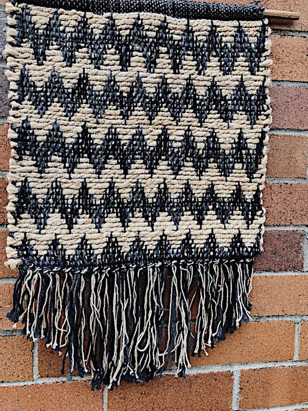 Black + Jute Wall Hanging