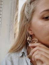 Load image into Gallery viewer, BUTTERFLY EFFECT GOLD INTRICATE Earrings | By: Life in the sun store