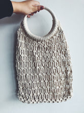 Load image into Gallery viewer, Natural Macrame Hoop Carry All Bag