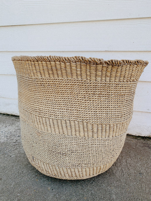 Large Sized Handmade African Basket