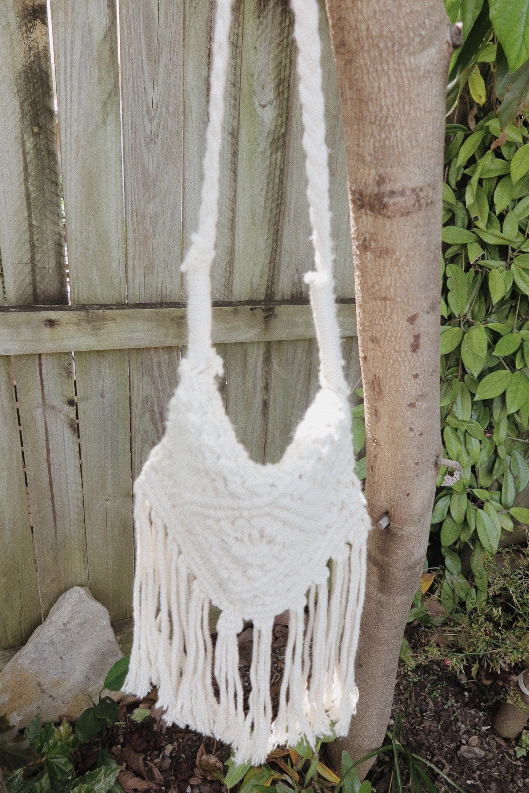 Small Side Bag - Macrame Knotted