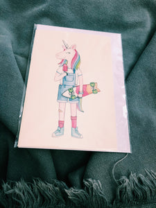 UNICORN POPSICAL WATER COLOUR - ALL OCCASIONS CARD - MH13