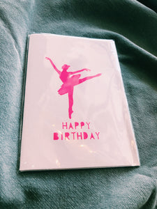 ME AND AMBER - BALLERINA BIRTHDAY CARD