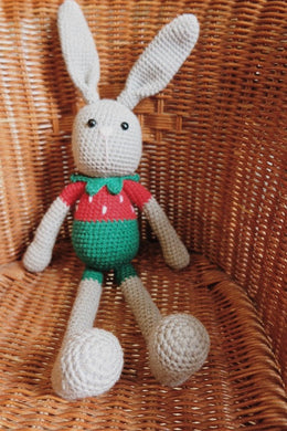 Mr Strawberry Crochet Large Bunny Doll