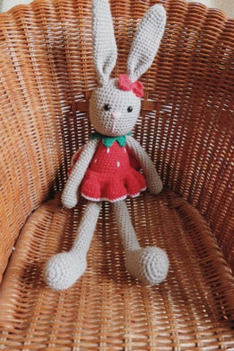 Mrs Strawberry Large Bunny Doll