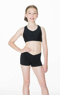 Studio 7 Dancewear / Children's V-Band Hot Shorts - CHS01