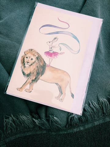 THE LION AND RABBIT - BALLERINA CARD - TP3
