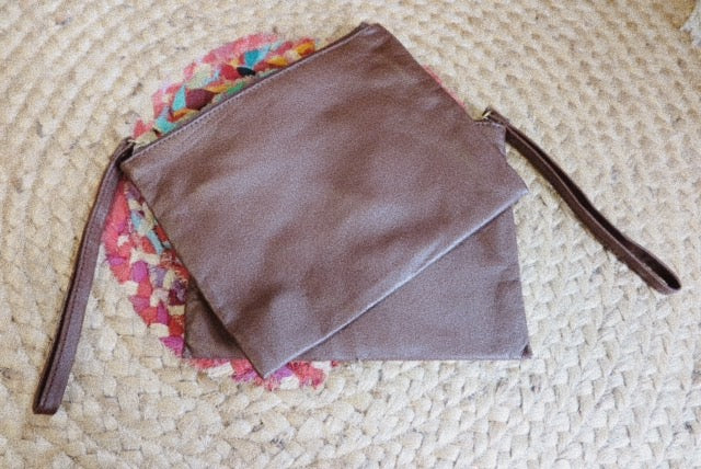 Lush Classic Brown Soft Leather Clutch