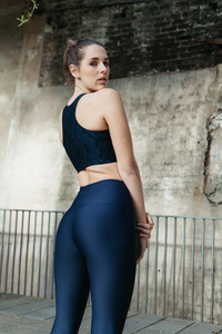 Gerrycan Celine Compression Highwaisted Activewear Leggings in Navy