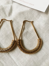 Load image into Gallery viewer, Gold hardware Mesh Uber Hoops | By: Life in the sun store