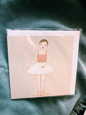 ELEGANT BALLERINA ILLUSTRATED ALL OCCASSIONS CARD - Irena-29