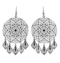 Load image into Gallery viewer, EB + IVE - LUCIA ROUND EARRINGS - ROSE AND SILVER
