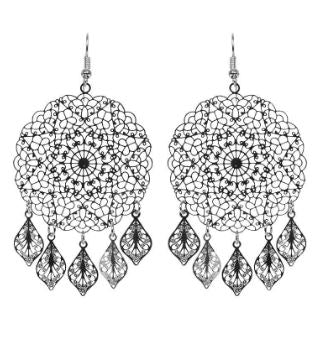 EB + IVE - LUCIA ROUND EARRINGS - ROSE AND SILVER