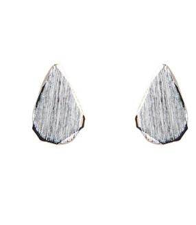 EB + IVE - METAL TEAR PIN EARRING - SILVER AND GOLD