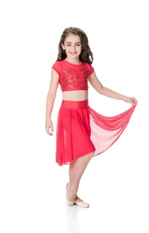 Studio 7 Dancewear - Children's Attitude Sequin Crop Top - CHCT08