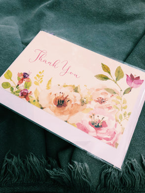 THANK YOU - FLORAL BLOOM CARD - FB79