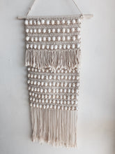 Load image into Gallery viewer, LONG SHELL KNOTTED MACRAME WALL HANGING