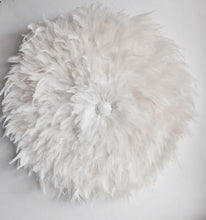 Load image into Gallery viewer, Natural White Juju Hat with Shell button detail- NEW  Wall Hanging- Handmade Decor