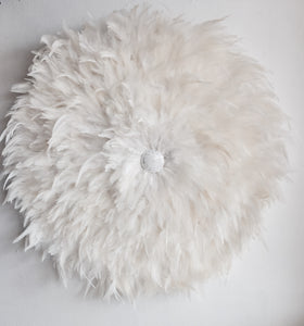 Natural White Juju Hat with Shell button detail- NEW  Wall Hanging- Handmade Decor