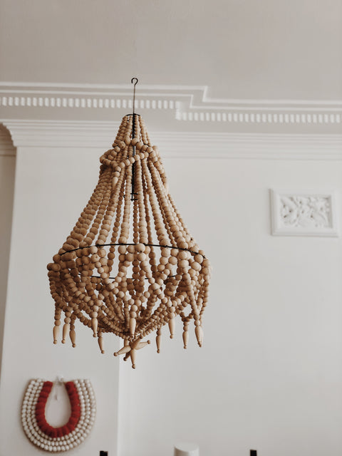 Chandelier my store boho fringe detailed chandelier by my design store natural cream aloadofball Image collections
